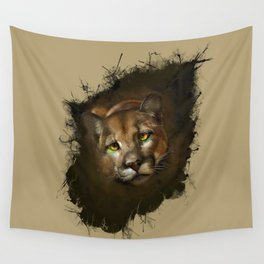 The cougar Wall Tapestry