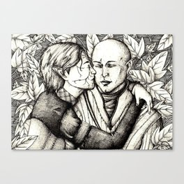 Elves and elfroot Canvas Print