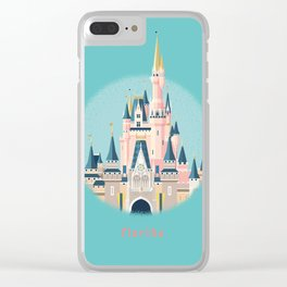 Florida Magic Kingdom Castle Clear iPhone Case