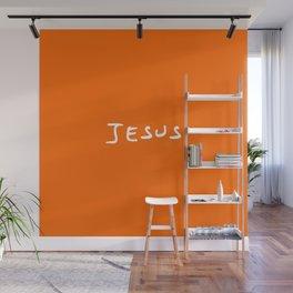 Jesus 4 orange Wall Mural