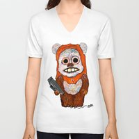 ewok V-neck T-shirts featuring Eccentric Ewok by Jordan Soliz