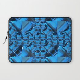 ORNATE  BLUE CRYSTAL GEMS PATTERN Laptop Sleeve