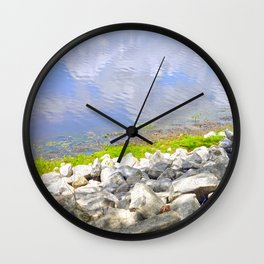 Water Abstract 2 Wall Clock