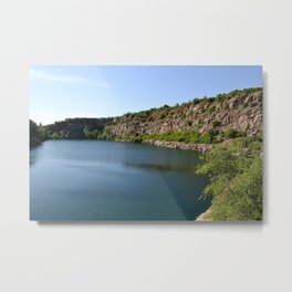 Flooded Quarry Metal Print