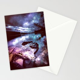 Magical Mountain Lake Colorful Stationery Cards