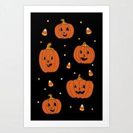 Happy Pumpkins Art Print