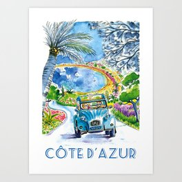 Enjoy Life Cote d'Azur Art Print