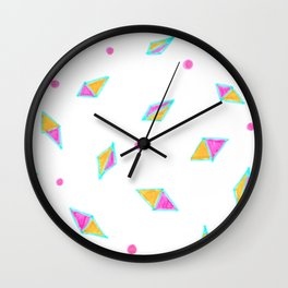 Gems of Pink and Gold Wall Clock