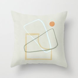 Minimal and geometrical design Throw Pillow