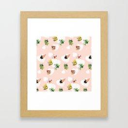 BnHA Café Framed Art Print