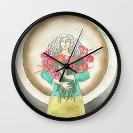 Flower Love Wall Clock