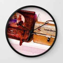 """""""The bag and lunchbox, a child!"""" Wall Clock"""