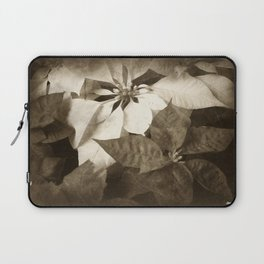 Mixed Color Poinsettias 2 Antiqued Laptop Sleeve