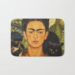 Frida Kahlo Self-Portrait Thorn Necklace and Hummingbird Bath Mat