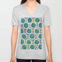 Four Directions beneath Circles Pattern Unisex V-Neck