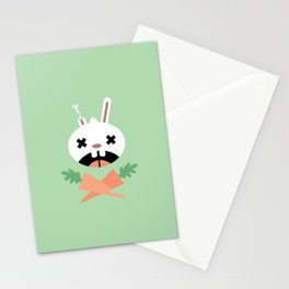 Bunny Death Stationery Cards