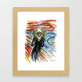 The Frog Shout Framed Art Print