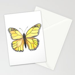 Monarch Butterfly - Yellow Stationery Cards