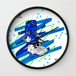 Mr.ShoeLock (blue) Wall Clock