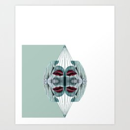 Mirrored Puppetry Art Print