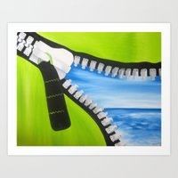 Zipper Art Print