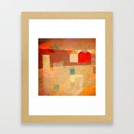Casitas en España Framed Art Print