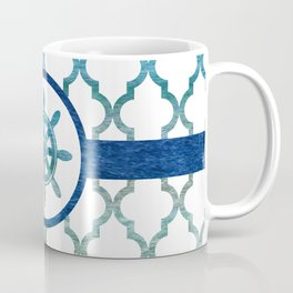 Ship Helm: Tropical Water Moroccan Pattern Coffee Mug