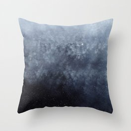 Blue veiled moon Throw Pillow