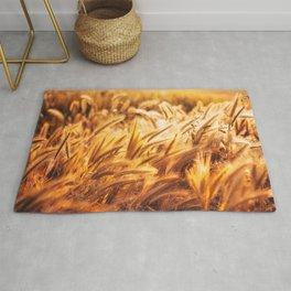 golden wheat field Rug