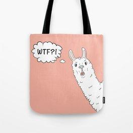 Llama WTF Tote Bag