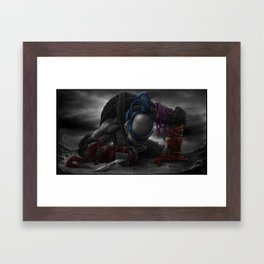 B&W_LEONARDO goodbye, my brothers... Framed Art Print