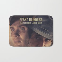 Peaky Blinders poster, Cillian Murphy is Thomas Shelby, Adrien Brody is Luca Changretta Bath Mat
