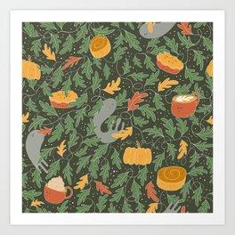 Spooky Delight - Olive Art Print