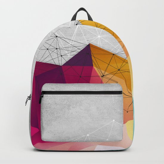 Polygons on Concrete Backpack