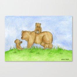Bear Adventures Canvas Print