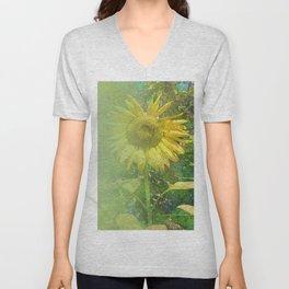 Radiant Sunflower Unisex V-Neck