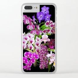 Orchids - Cool colors! Clear iPhone Case