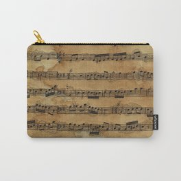Grunge Sheet Music Music-lover's Design Carry-All Pouch