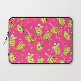 Funny summer modern avocado guacamole cartoon music band pattern illustration Laptop Sleeve