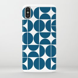Mid Century Modern Geometric 04 Blue iPhone Case