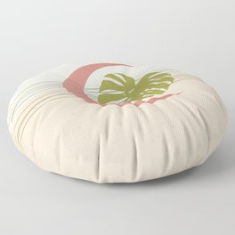Moon and Monstera Floor Pillow