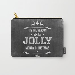 Christmas Chalk Board Carry-All Pouch