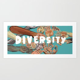 7 Banned Words: Diversity Art Print