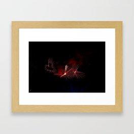 Love Heart Firework at Monteux, France Framed Art Print