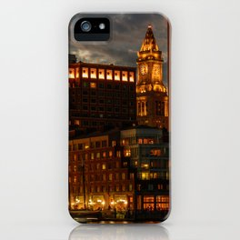 Night at Boston Harbor iPhone Case