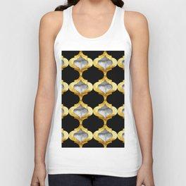 Alhambra Glam Quatrefoil Pattern Unisex Tank Top