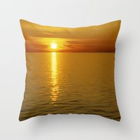 swedish Throw Pillows featuring Swedish Sunset by LesImagesdeJon