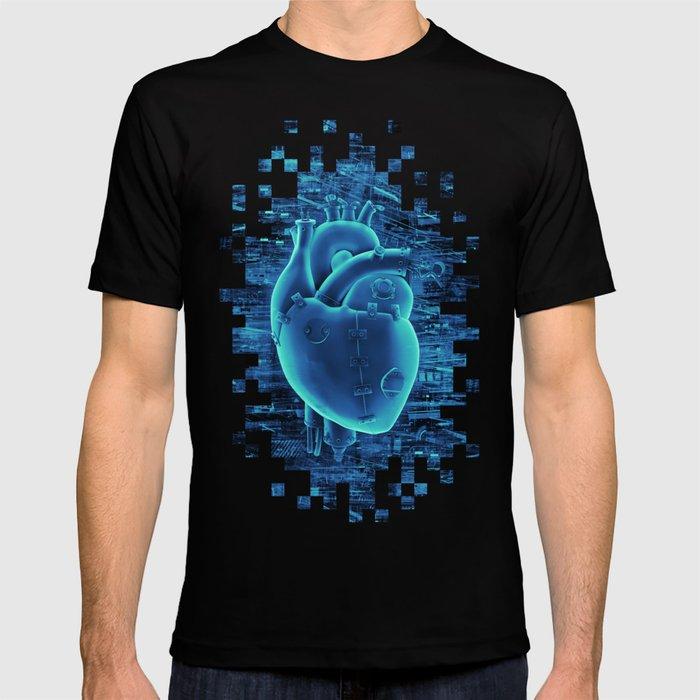 Gamer Heart BLUE TECH / 3D render of mechanical heart T-shirt