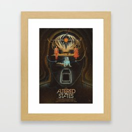 Altered States alternative movie poser Framed Art Print