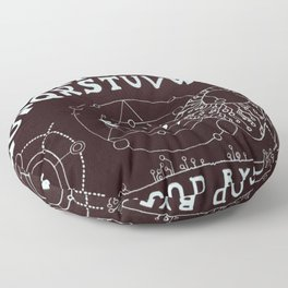 Spooky halloween ouija Floor Pillow